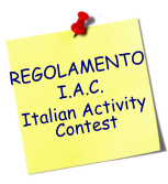 REGOLAMENTO I.A.C. Italian Activity Contest